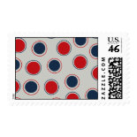 Bright Bold Big Red Blue Polka Dots Pattern Stamps