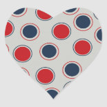 Bright Bold Big Red Blue Polka Dots Pattern Sticker