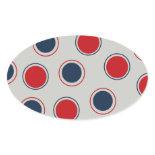 Bright Bold Big Red Blue Polka Dots Pattern Stickers