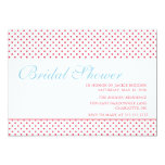 bright & bold bridal shower 5x7 paper invitation card