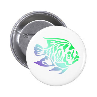 Bright Bold Colorful Fancy Fish Tees, Gfits Button