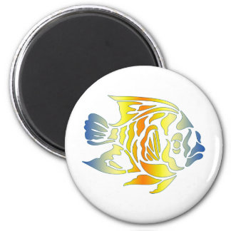 Bright Bold Colorful Fancy Fish Tees, Gfits Magnet