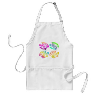 Bright Bold Colorful Summery Fish Tees Gifts Apron