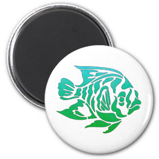 Bright Bold Colorful Summery Fish Tees, Gifts Fridge Magnet
