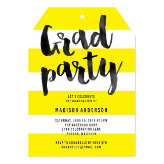 Bright & Bold Graduation Invitation