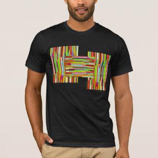 Bright Bold Multi-Colored Stripes T-Shirt