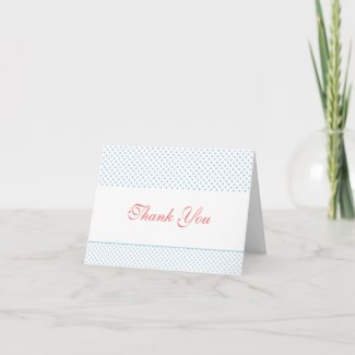 bright & bold thank you card card