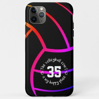 bright bold volleyball court my happy place Case-Mate iPhone case