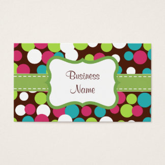 Bright Bouncing Dots Business Card