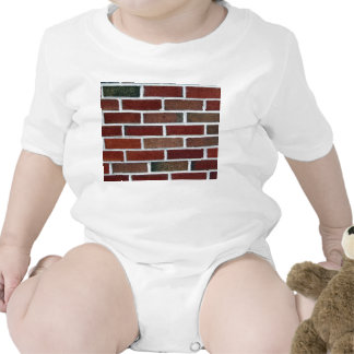 Bright Brick Wall With Periodic White Lines Rompers