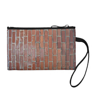 Bright Brick Wall With Variation Change Purse