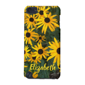 Bright Brown Eyed Susans and Name iPod Touch 5G Cover
