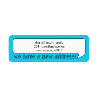 Bright Bubble New Address/Moving Announcement Return Address Labels