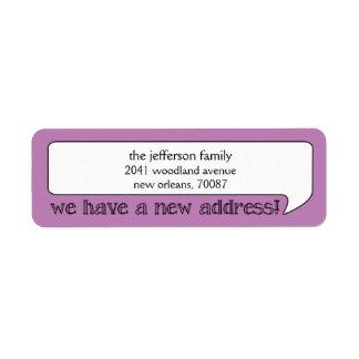 Bright Bubble New Address/Moving Announcement Label