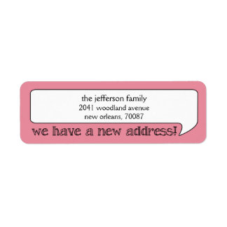 Bright Bubble New Address/Moving Announcement Label