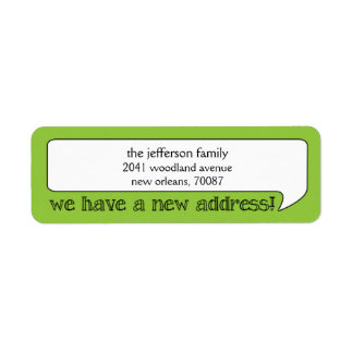 Bright Bubble New Address/Moving Announcement Custom Return Address Label