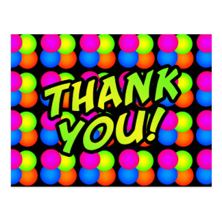Bright Bubbles Birthday Thank you! Postcards