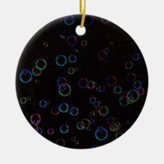 Bright bubbles ceramic ornament