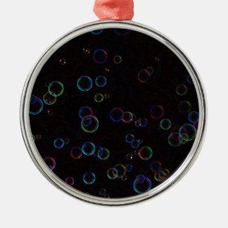 Bright bubbles metal ornament