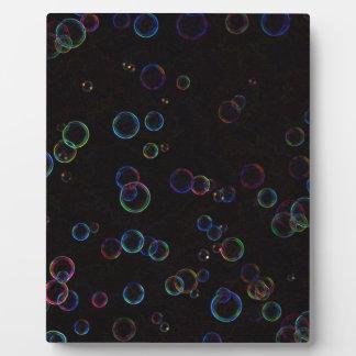 Bright bubbles plaque