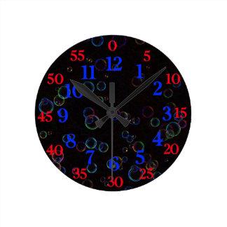 Bright bubbles round clock