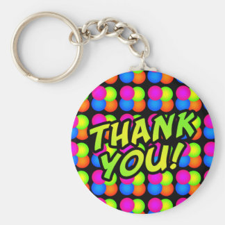 Bright Bubbles Thank You! Keychain