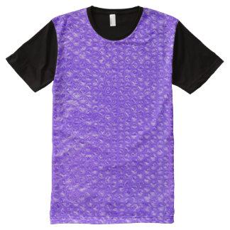 Bright Bubbly Purple Soda Drink Bubble Indigo All-Over Print T-shirt