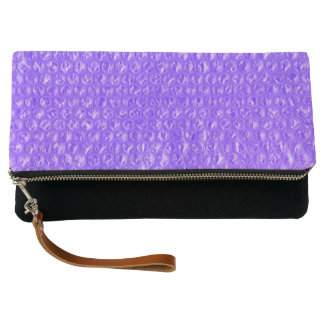 Bright Bubbly Purple Soda Drink Bubble Wrap Clutch
