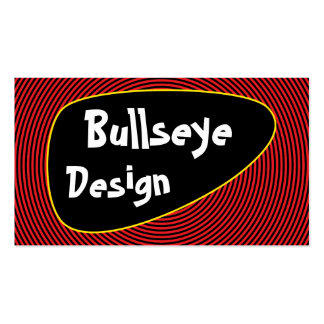 Bright Bullseye Double-Sided Standard Business Cards (Pack Of 100)