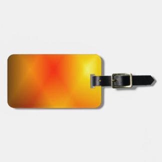 Bright Burnt Orange Luggage Tag