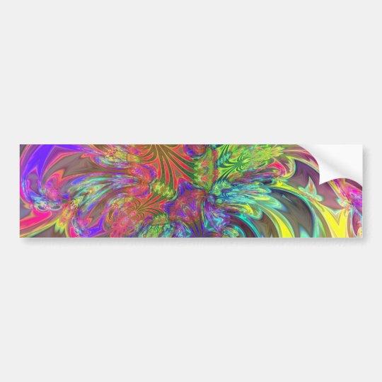 Bright Burst of Color – Salmon & Indigo Deva Bumper Sticker