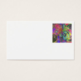 Bright Burst of Color – Salmon & Indigo Deva Business Card