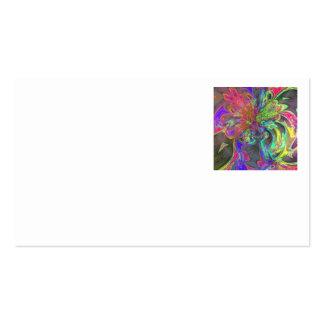 Bright Burst of Color – Salmon & Indigo Deva Business Card Template