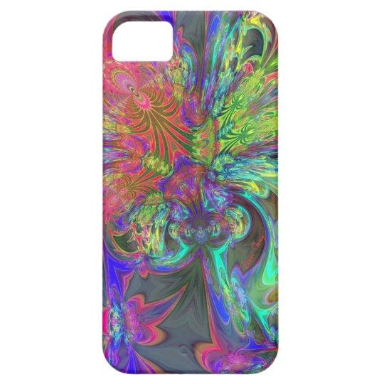 Bright Burst of Color – Salmon & Indigo Deva iPhone SE/5/5s Case