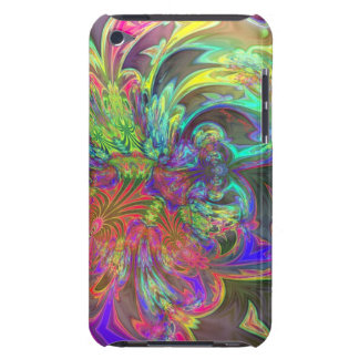 Bright Burst of Color – Salmon & Indigo Deva iPod Touch Case