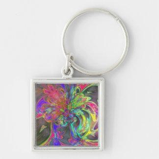 Bright Burst of Color – Salmon & Indigo Deva Keychain