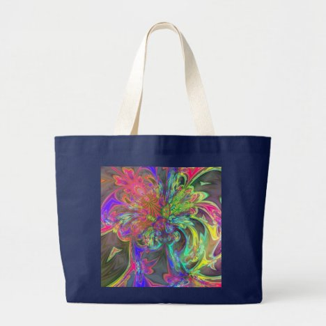 Bright Burst of Color – Salmon & Indigo Deva Large Tote Bag