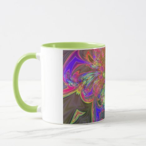 Bright Burst of Color – Salmon & Indigo Deva Mug