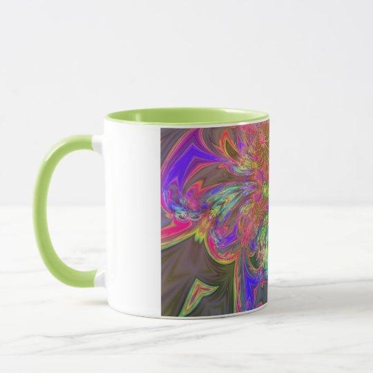 Bright Burst of Color – Salmon & Indigo Deva Mug