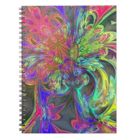 Bright Burst of Color – Salmon & Indigo Deva Notebook