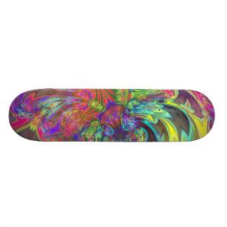 Bright Burst of Color – Salmon & Indigo Deva Skateboard