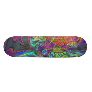 Bright Burst of Color – Salmon & Indigo Deva Skateboard