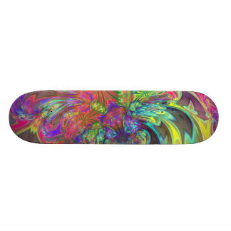 Bright Burst of Color – Salmon & Indigo Deva Skateboard Deck