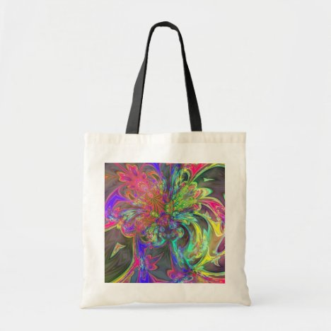Bright Burst of Color – Salmon & Indigo Deva Tote Bag