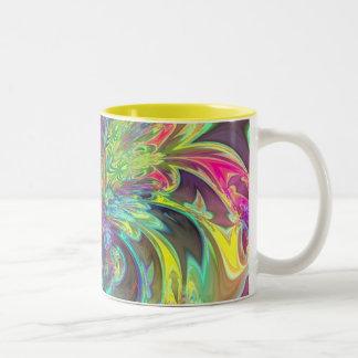 Bright Burst of Color – Salmon & Indigo Deva Two-Tone Coffee Mug