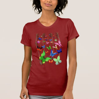 Bright Butterflies and Forest  T-Shirt