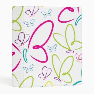 Bright butterflies mini binder