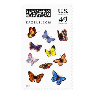 Bright Butterflies Postage Stamps