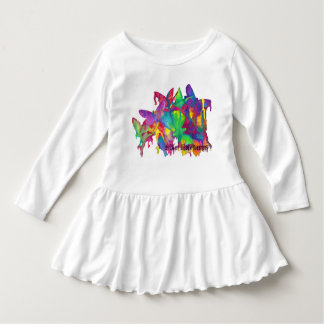 Bright Butterflies Toddler Dress