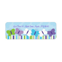 Bright Butterfly Address Labels